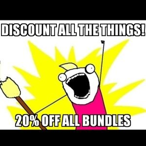 All Bundles of 2 or More Items 20% Off